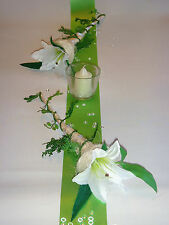 Tischdekoration für ca. 60 Pers. grün zur Hochzeit Tischdeko TD0003