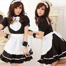 Tame tímido japonés, Francesa Disfraz De Mucama Traje De Camarera uniforme, cintura hasta 62cm