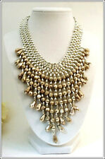 Vintage Costume Jewelry Artisan Designer Necklace Silver Plated