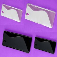 RV Lot Back Skin S wave Case Rubberized Cover Shell Protect Sony L36h Xperia Z