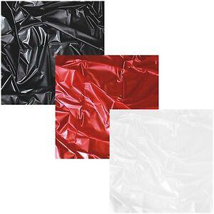 SexMAX WetGAMES LACK LATEX PVC Laken Bettlaken Spielwiese Schwarz / Rot / Weiß
