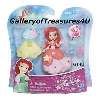 "Disney Princess Little Kingdom Mermaid ARIEL Fashion Change SnapIns Mini 3"" Doll"