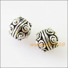 15 New Charms Round Ball Spacer Beads 7.5mm Tibetan Silver