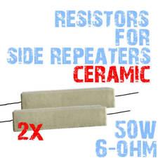 2 pz Resistore Assiale Resistenze a filo Metallo Ceramica 50 Watt 6 Ohm 2E5 2E5B