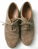 CLARKS Mens Brogues Shoes Size 5 H Brown Suede Leather Lace ups