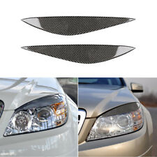 Carbon Fiber Eyebrow Eyelid Trim fit for Benz W204 C180 C200 C300 C350 C63 08-11