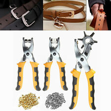 Leather Belt Hole Punch Eyelet Plier Snap Button Grommet Setter Hand Plier Tool