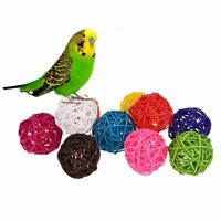 10pcs Rattan Ball Bird Toy for Parrot Budgie Parakeet Cockatiel Random Color