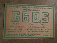 000 Rare G6QS Moor View England radio station advertisement card 1939  QSL