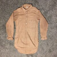 Vintage 50s houndstooth wool workwear chore overhead shirt spearpoint collar
