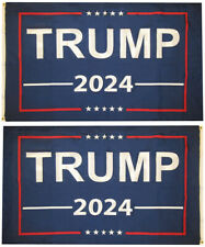 Trump 2024 Blue Premium 100D Woven Poly Nylon Double Sided 5x3 Flag (RUF)