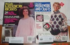 McCALLS NEEDLEWORK CRAFTS 1991 LOT OF 2 CHRISTMAS QUILT AFGHAN LACE KNIT SEW