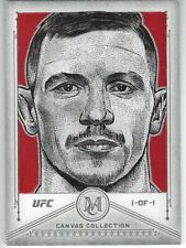 JOE DUFFY #1/1 TOPPS 2019 UFC MUSEUM CANVAS ORIGINAL ART SKETCH 1/1 JUAN ROSALES