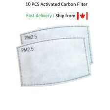 Activated Carbon PM 2.5 filter Insert Replacement for Face Masks pcs 5 Layers