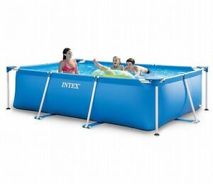Intex Steel metal frame swimming pool rectangular 300 x 200 x 75cm