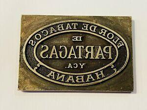 Rare Vintage De Partagas YCA Habana Cigars Metal Box Printing Plate