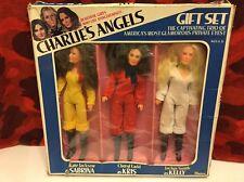 VINTAGE 1977 CHARLIE'S ANGELS ACTION FIGURE DOLL LOT KELLY SABRINA KRIS Gift Set