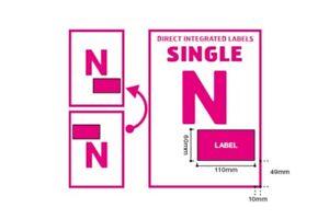 A4 Integrated Label Invoice Paper Sticky Address Sheets Single N  Ebay   Amazon