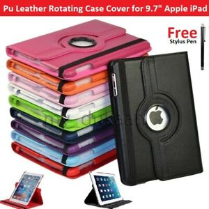 """For Apple iPad 6th Generation 9.7"""" (2018) 360° Rotation Pu Leather Case Cover"""