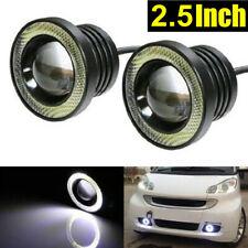 "2X 2.5"" Inch Car Auto LED COB Projector Fog Light Halo Angel Eye Ring Bulb White"