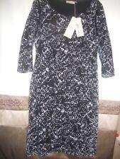 NICE ELEGANT BNWT M&S PER UNA WOMEN'S BLACK MIX LACE PARTY DRESS UK 16 / EUR 44