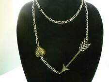 and Heart Long Chain Necklace Betsey Johnson Throwback Betsey Collection Arrow