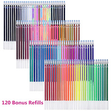 Tanmit 240 Gel Pens Set 120 Colored Gel Pen plus 120 Refills for Adults Colorin