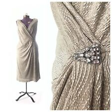 Vintage 1920s 1930s silver dress gatsby costume LAUREN flapper size 16 XL large