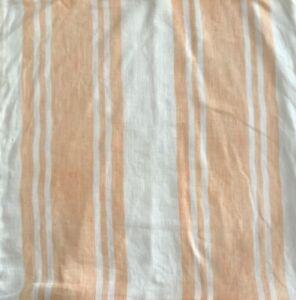 Pottery Barn Ticking Stripe Linen Pillow Cover Orange Cream Farmhouse