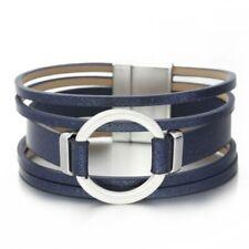 Bracelet Ceinture Cuir et Acier fermeture magnétique femmes ados db1499