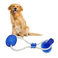 Pets Dog Floor Suction Cup w/Ball Cat Teeth Cleaning Playing Molar Bite Chew Toy