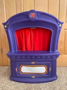 Step 2 puppet theater stage *RARE* original puppets extra curtains light AWESOME