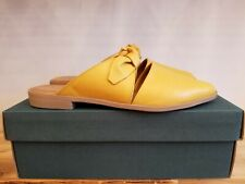 NEW IN THE BOX BUENO BOWERY YELLOW LEATHER MULE FOR WOMEN