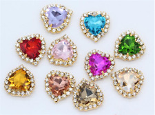 20pcs Sew On rhinestone 12mm heart crystal cabochons cut glass diy dress making