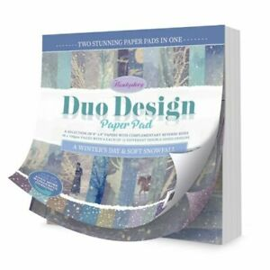 Hunkydory - Duo Design Paper Pad - A Winter's Day & Soft - DDPP107 - rrp £9.99