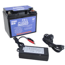 Pro Power 12V Volt 50ah Lithium Iron Deep Cycle Battery with Charger included