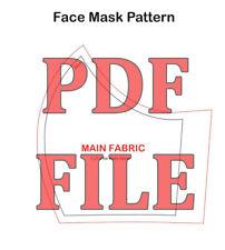 Printable PDF Face Mask Sewing Patterns Men, Women, Kids PATTERN ONLY
