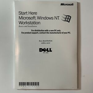 Microsoft Windows NT Workstation Service Pack Software Dell PC CD Sealed NIP