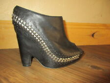 Sam Edelman ~Zachery~ Platform Heels Open Toe Black Leather Studded Sz 9 - 9.5