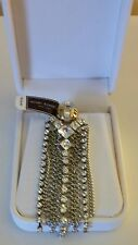 HENRI BENDEL GO GLAM CHANDELIERS EARRINGS WITH CRYSTALS NEW WITH TAGS