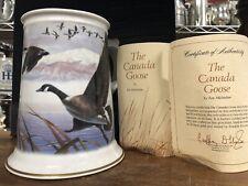 Franklin Mint The Canada Goose 1983 Franklin Porcelain Htf With Coa Rare