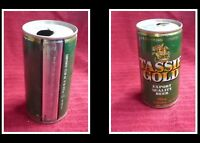 COLLECTABLE AUSTRALIAN STEEL BEER CAN, TASSIE GOLD 375ml 2