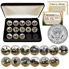 TRIPLE CROWN WINNERS Horse Racing JFK Half Dollar 13-Coin Full Set w/ BOX & CERT