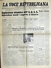 * LA VOCE REPUBBLICANA N°207/ 3/SET/1961 * Quotidiano del Partito REPUBBLICANO