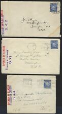 AUSTRALIA 1940s COLLECTION OF 6 WAR TIME CENSORED COVERS VARIOUS FRANKINGS ALL