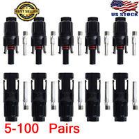 LOT MC4 Adapter Waterproof Male/Female M/F Wire Cable Solar Panel Connector Plug
