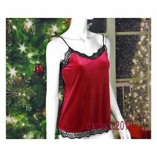 WHITE HOUSE BLACK MARKET VELVET LACE CHRISTMAS LUSCIOUS CAMI BLOUSE TOP SIZE XS