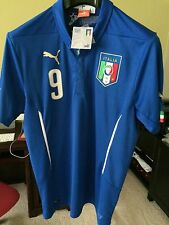 PUMA ITALY HOME SOCCER JERSEY 2014-15 -BALOTELLI #9- STYLE 747249 01 SIZE LARGE