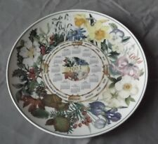 WEDGWOOD FOR THE DAILY MAIL ASSIETTE CALENDRIER DECOR FLORAL 2003