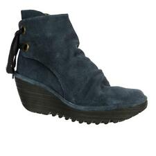 Wedge Mid Heel (1.5-3 in.) Suede Lace Up Boots for Women